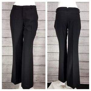 JOIE Crepe LAVELLE Wide Leg Dress Pants 4 Black